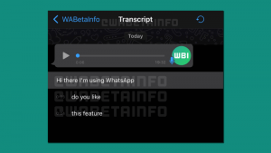 voice messages on WhatsApp